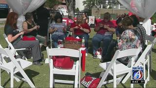 'Knit-in' raises awareness for infant heart defects
