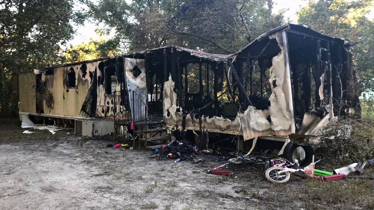 Pamona Park trailer fire