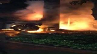 2-car crash results in fire in North Miami Beach