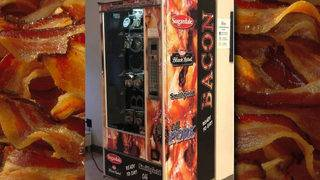Bacon vending machine arrives just in time for finals at university