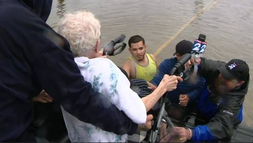 Coast Guard rescues people stranded by Beaumont floodwaters