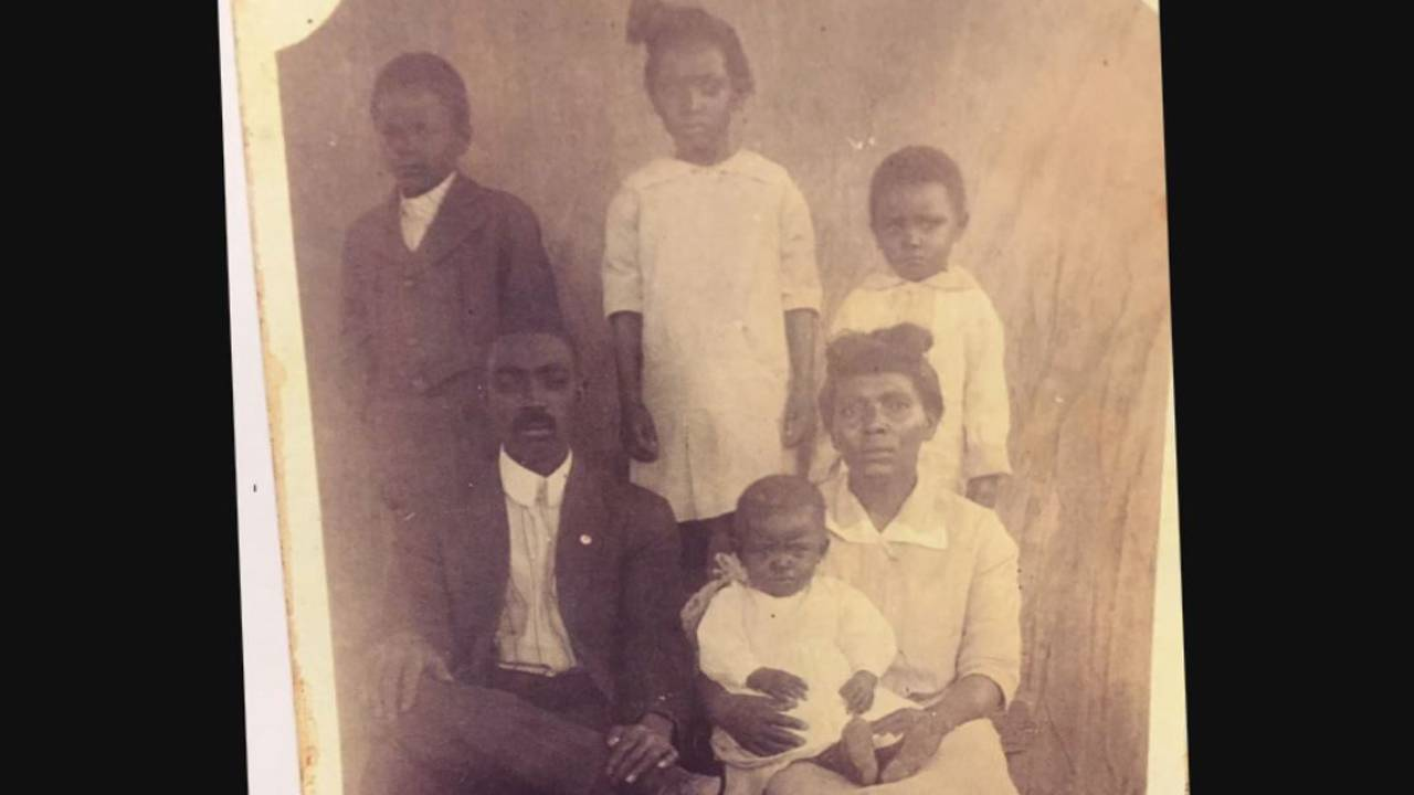 Ernest Lee Hughes, affectionately known as 'Big Poppa,' family portrait
