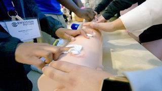 Students learn lifesaving techniques once reserved for military