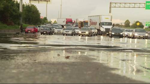 High water strands motorists on I-10 at Wayside