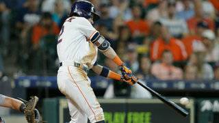 Cole pitches into 6th inning, 3 Astros homer in 9-1 win