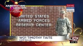 Holiday Greetings: WO1 Timothy Tate