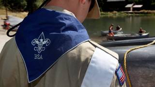 Boy Scouts, police collect cleaning supplies for Hurricane victims