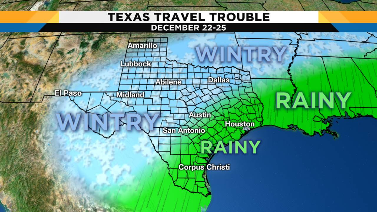 Weather Map Of Texas Today.Weather Forecast Leading Into Christmas Hints At Travel