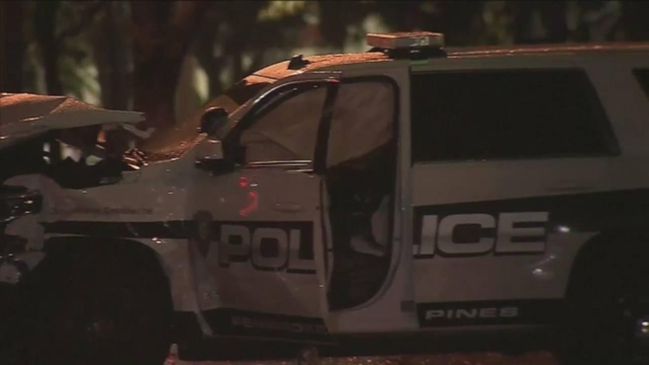 Pembroke Pines police SUV damaged in crash