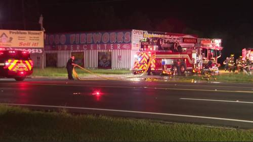 Arson suspected after investigators find signs of forced entry at Humble fireworks stand