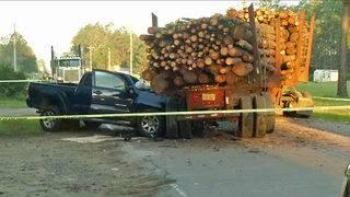 Husband, wife killed in log truck crash near Bryceville