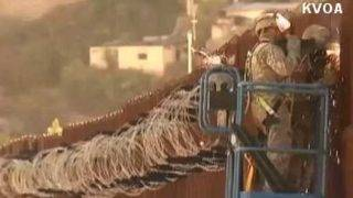 Arizona border barrier fortified by military