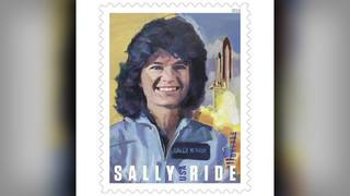 This is Sally Ride's Forever Stamp&#x3b; Billie Jean King, Ride's widow to&hellip&#x3b;