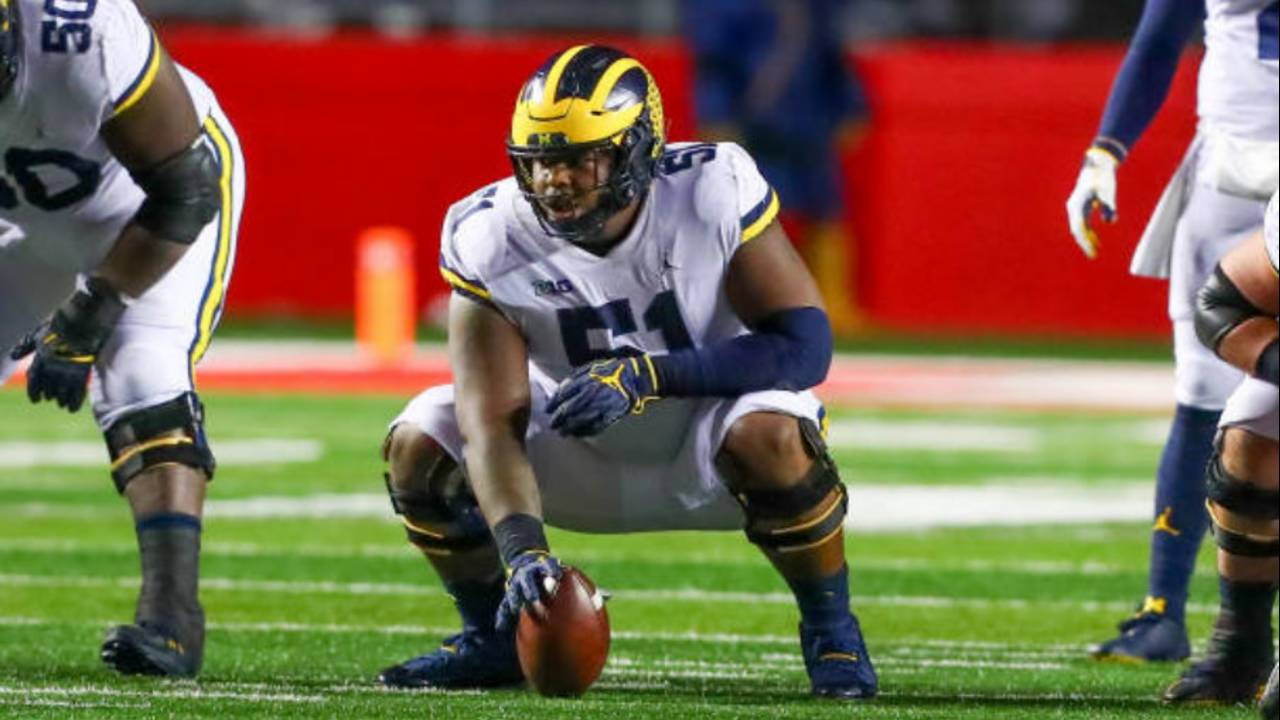 Michigan football C Cesar Ruiz 2018