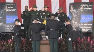 Memorial service held for K-9 deputy Cigo killed in Christmas Eve shooting
