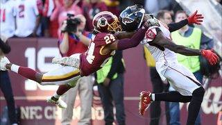 Falcons flex offensive muscles, blow out Redskins 38-14