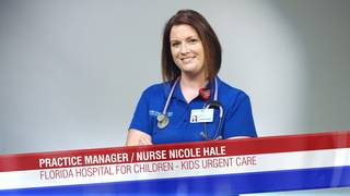 Practice Manager and Nurse Nicole Hale of Florida Hospital for Children
