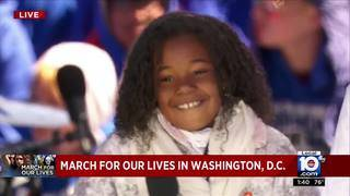 Marching for Our Lives: Martin Luther King's 9-year-old granddaughter&hellip&#x3b;