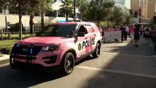 First responders sport pink service vehicles for breast cancer awareness