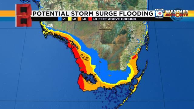 Irma Storm Surge Thursday 2 pm