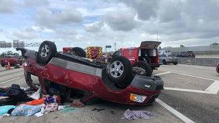 4 people hurt after crash on Interstate 95 in Fort Lauderdale