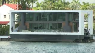 Floating fortress turns heads off Miami Beach