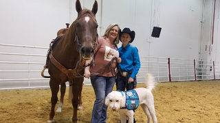 Dog and horse help teen diagnosed with epilepsy compete in Houston Rodeo