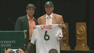 Gino DiMare introduced as new Hurricanes baseball coach