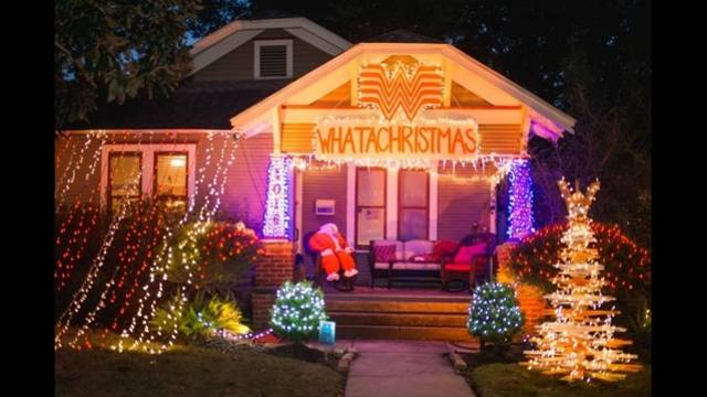 the whatachristmas house in the heights that is so texas - Is Whataburger Open On Christmas