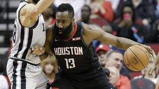 James Harden ties career best with 61, Rockets beat Spurs 111-105