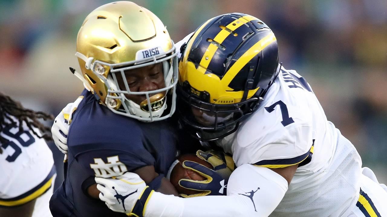 Khaleke Hudson tackle Michigan football vs Notre Dame 2018