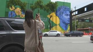 Neymar mural in Miami celebrates World Cup with South Florida flair