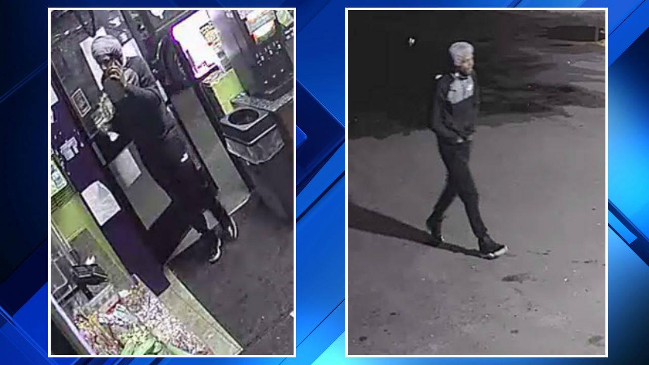 Detroit gas station robbery 3 men suspect 1