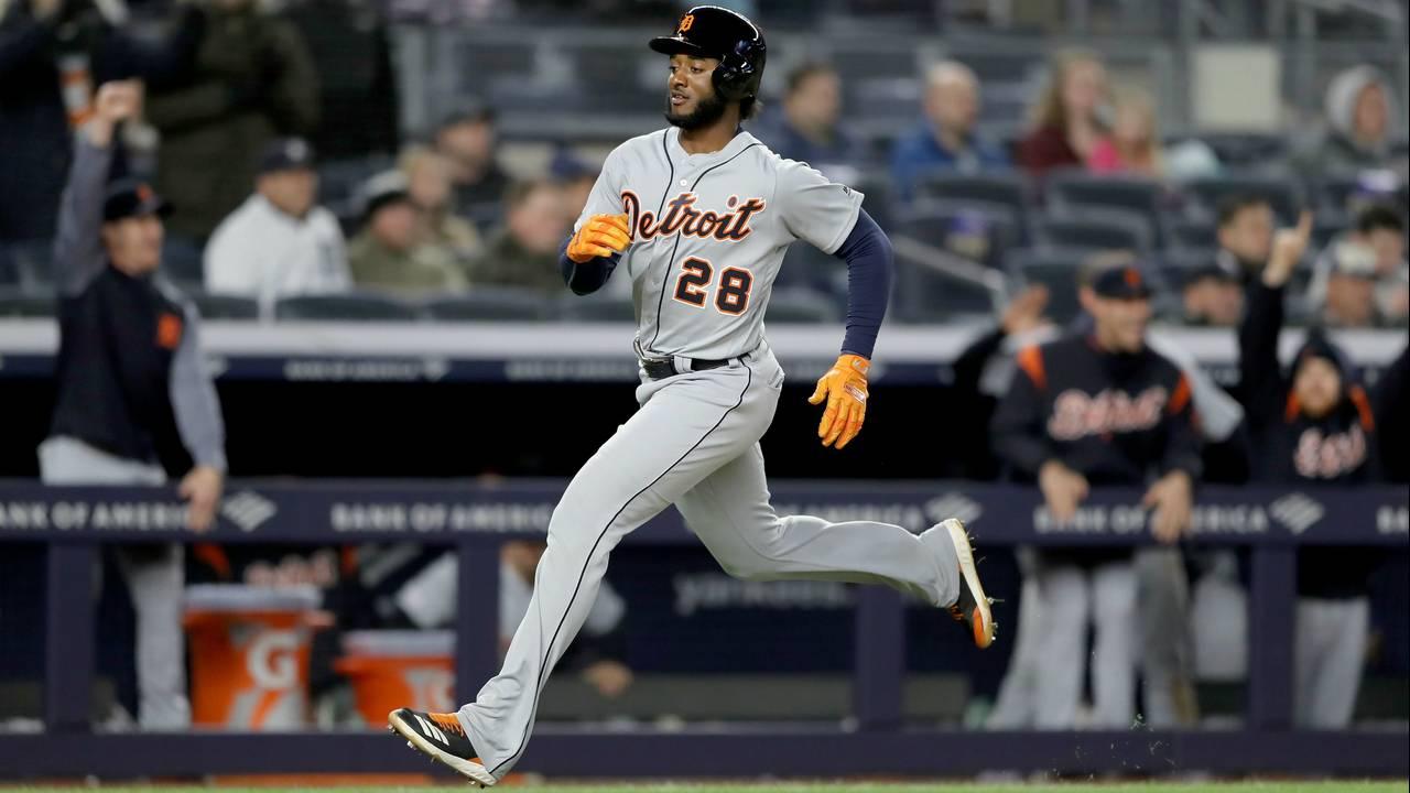 Niko Goodrum scores Detroit Tigers vs Yankees 2019
