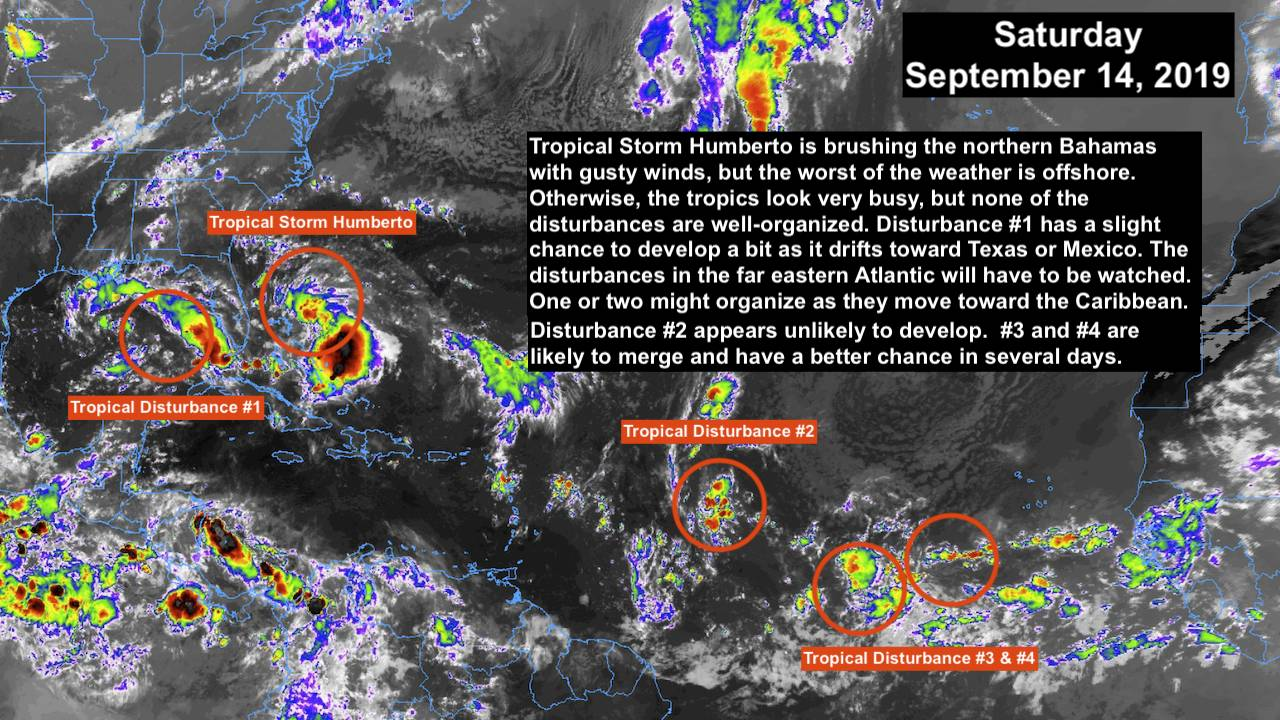 4 Tropical Threats in Atlantic
