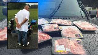 Walmart thief stuffs $100 worth of steaks down pants, flees