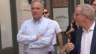 Sen. Tim Kaine talks economic development, tours downtown Danville