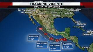 Tropical Storm Vicente forms off Guatemalan coast, may bring rain to Texas