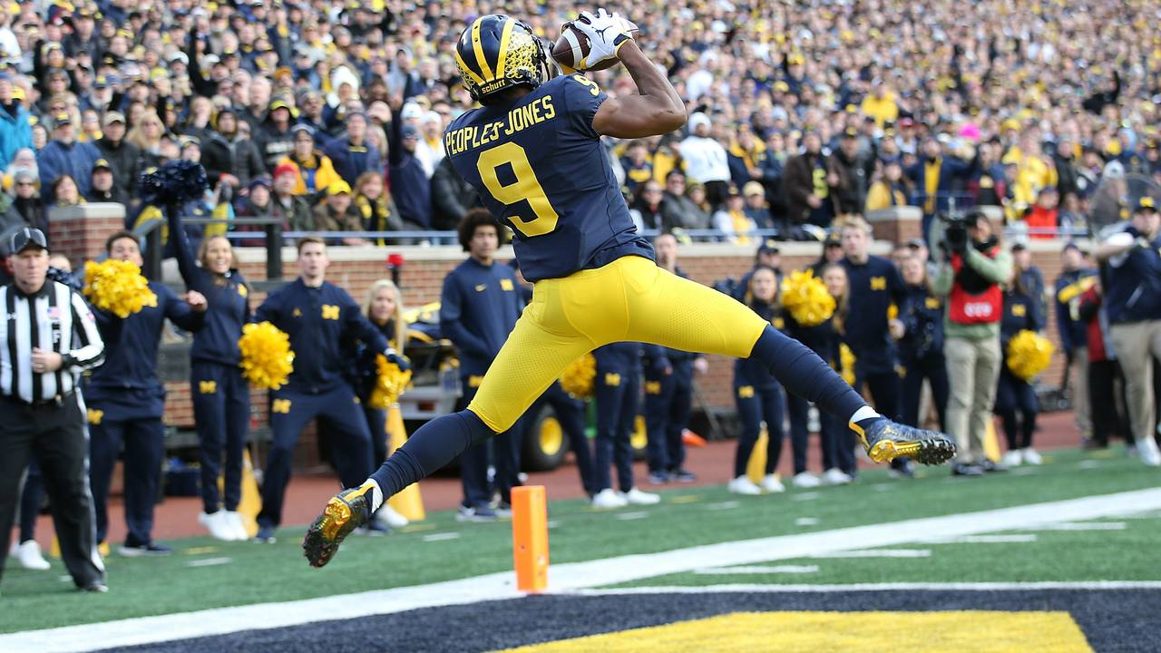 Donovan Peoples-Jones touchdown catch Michigan football vs Penn State 2018