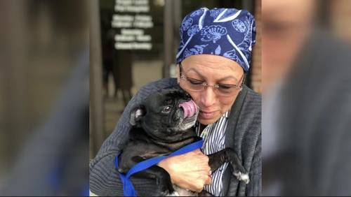 Beautiful reunion: Cancer patient reunites with dog after lawsuit against animal rescue group