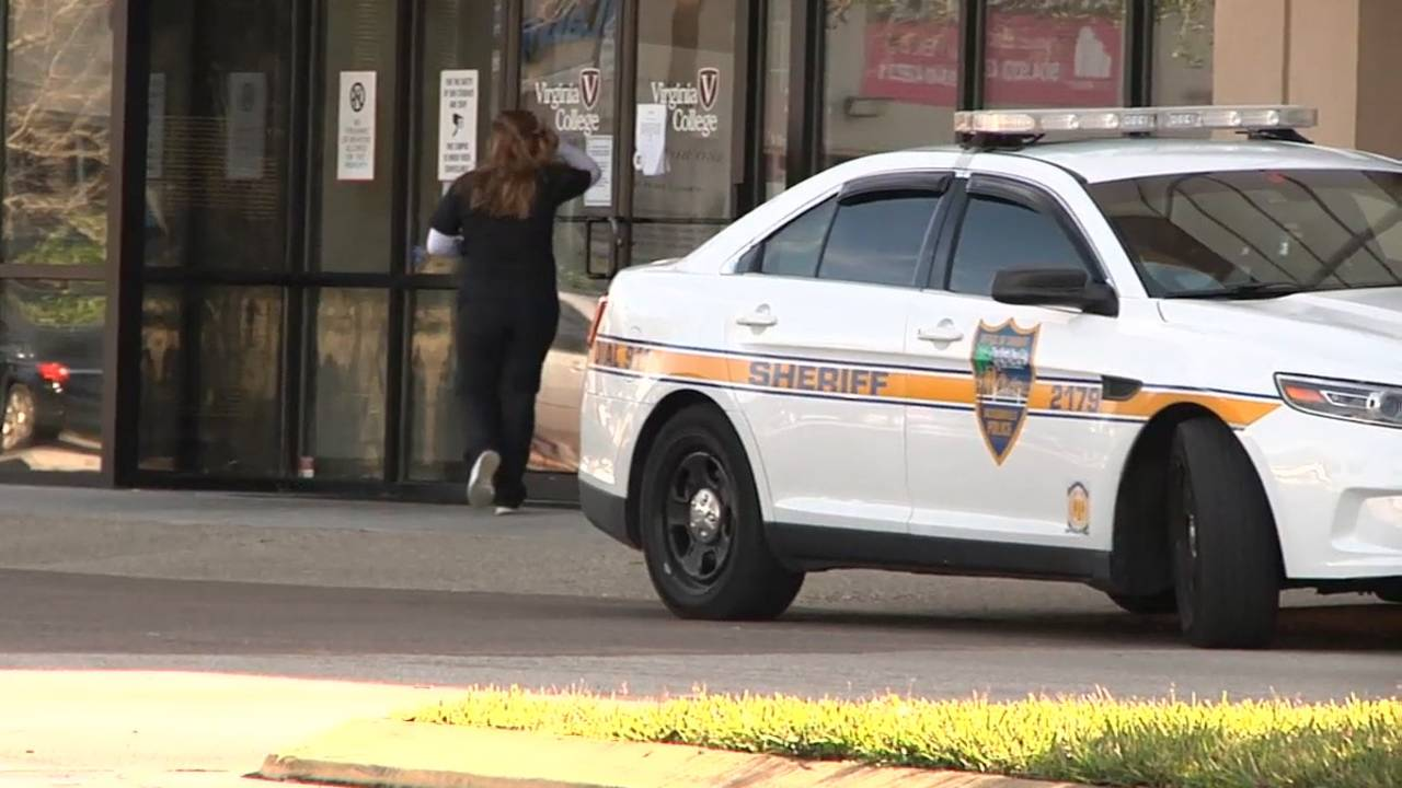 12-05 police outside Virginia College Jacksonville campus