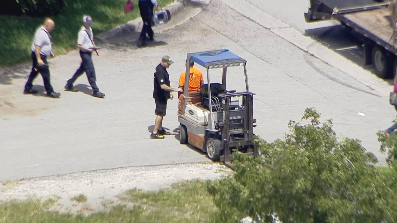 Forklift that struck woman