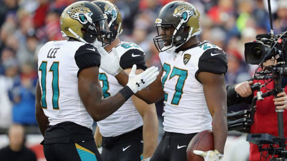 Jags at Pats Fournette-TD-celebration