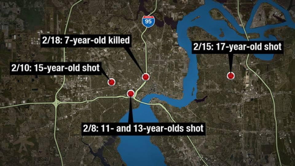 Map 5 juveniles shot Februar