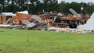 One dead after tornado tears through building in Virginia