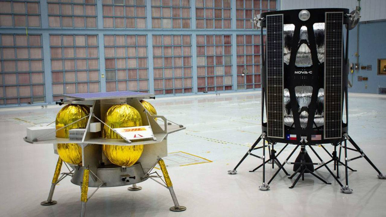 Astrobotics and Intuitive Machines lunar landers