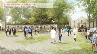 Proposed glass wall taken out of Alamo Master Plan