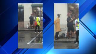 Woman claims 7-Eleven employee dumped ice water on homeless man