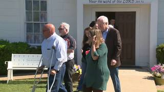 Sen. Cornyn visits Sutherland Springs First Baptist Church