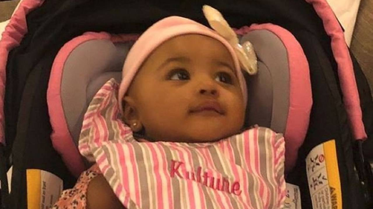 Image result for Cardi B & Offset Share Sweet Family Photo With Rare Glimpse At Baby Kulture, 9 Mos., For Easter